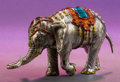 Silver Smalls:Other , A TIFFANY & CO. SILVER AND ENAMEL CIRCUS ELEPHANT DESIGNED BYGENE MOORE . Made in Italy for Tiffany & Co., Designed byGen...