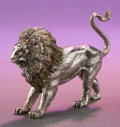 Silver Smalls:Other , A TIFFANY & CO. SILVER AND ENAMEL LION DESIGNED BY GENE MOORE .Made in Italy for Tiffany & Co., New York, New York, circa...