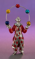 Silver Smalls:Other , A TIFFANY & CO. SILVER AND ENAMEL CIRCUS JUGGLER DESIGNED BYGENE MOORE . Made in Italy for Tiffany & Co., New York, NewY...