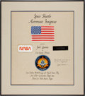 Transportation:Space Exploration, Space Shuttle Columbia (STS-3) Flown Flight Suit Patches(Four) Worn by Mission Commander Jack Lousma, Originally ...