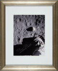 Autographs:Celebrities, Buzz Aldrin Signed Apollo 11 Lunar Surface Boot and BootprintPhoto....