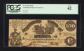 Confederate Notes:1861 Issues, T13 $100 1861 PF-3 Cr. 55.. ...