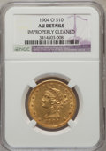 Liberty Eagles, 1904-O $10 --Improperly Cleaned--NGC Details. AU. NGC Census:(4/610). PCGS Population (5/591). Mintage: 108,950. Numismedia...
