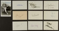 Football Collectibles:Others, Football Great Signed Index Cards Lot of 10....