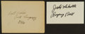 Boxing Collectibles:Autographs, Jack Dempsey and Jack LaMotta Signed Memorabilia Lot of 2....