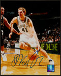 Basketball Collectibles:Photos, Dirk Nowitzki Signed Photograph....