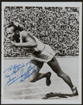 Olympic Collectibles:Autographs, Jesse Owens Signed Photograph....