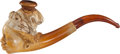 Antiques:Folk Art, Meerschaum Pipe in the Form of the Head of a FemaleAfrican-American Slave. ...
