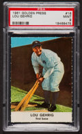 Baseball Cards:Singles (1960-1969), 1961 Golden Press Lou Gehrig #16 PSA Mint 9....