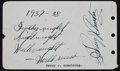 Boxing Collectibles:Autographs, 1930's Henry Armstrong Signed, Inscribed Autograph Album Sheet....