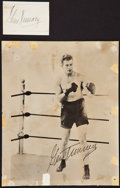 Boxing Collectibles:Autographs, Gene Tunney Signed Cut Signature and Photograph....