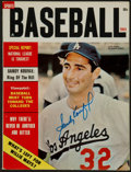 Baseball Collectibles:Publications, Sandy Koufax Signed Magazine....