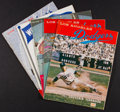Baseball Collectibles:Publications, 1959-63 Los Angeles Dodgers Yearbooks Lot of 5....