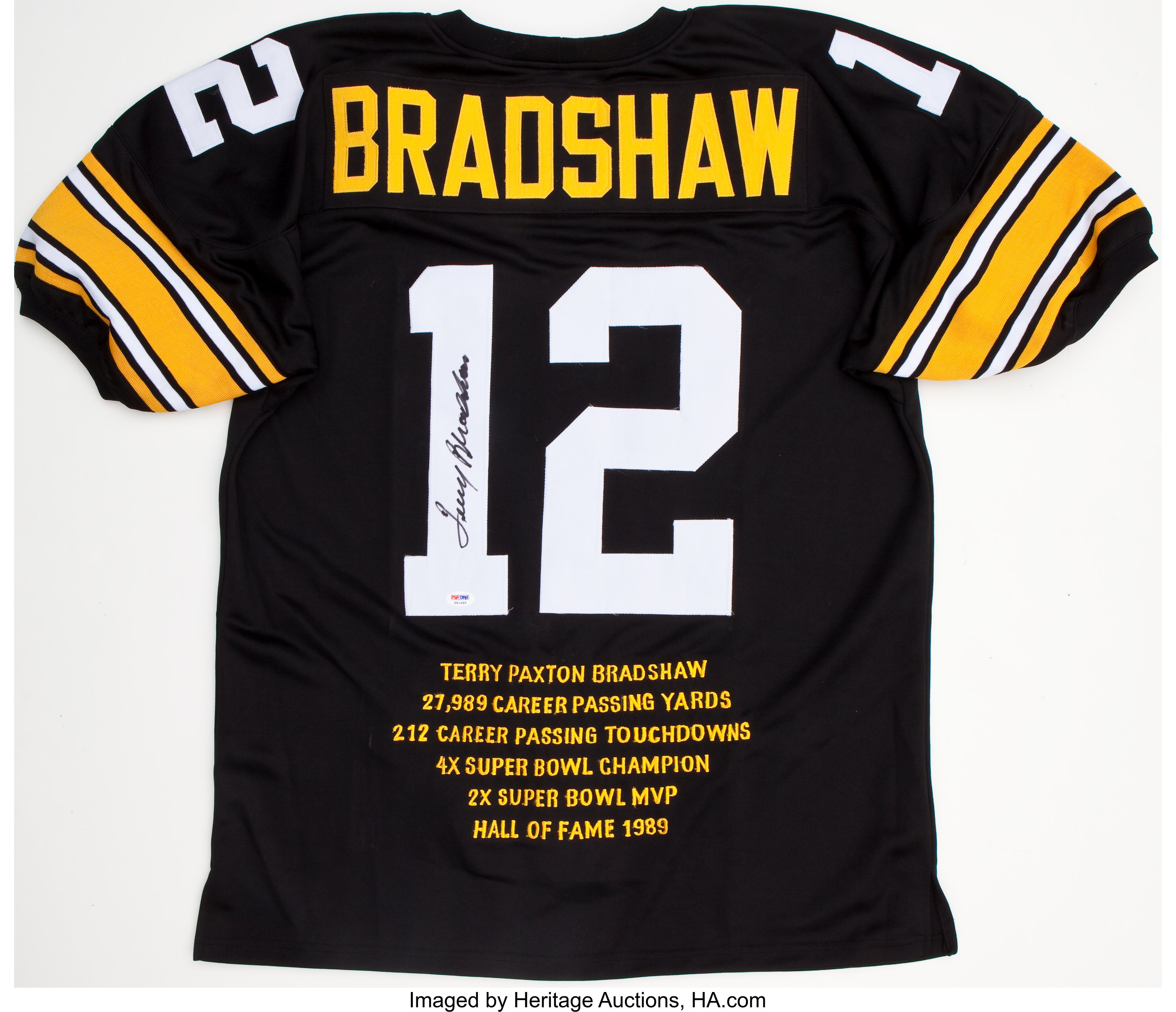 new style 653ad 3d14f Terry Bradshaw Signed Pittsburgh Steelers Jersey ...