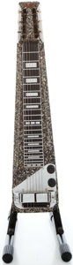 Musical Instruments:Lap Steel Guitars, Vintage Rickenbacher Black Crinkle Finish Lap Steel Guitar, Serial#U6063....
