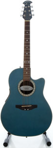 Musical Instruments:Acoustic Guitars, Ovation Celebrity Blue Metallic Acoustic Electric Guitar, Serial#3103547....