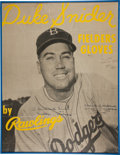 Baseball Collectibles:Others, Duke Snider Signed Rawlings Advertising Broadside....