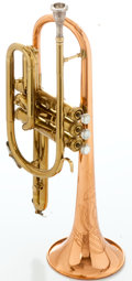 Musical Instruments:Horns & Wind Instruments, Circa 1953 C.G. Conn Coprion Brass Cornet, Serial #399948....