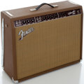 Musical Instruments:Amplifiers, PA, & Effects, Fender Vibroverb Reissue Brown Guitar Amplifier, Serial#AB03892....
