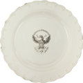 Political:3D & Other Display (pre-1896), George Washington: Federal Eagle Liverpool Plate....
