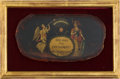 Political:3D & Other Display (pre-1896), George Washington: Extraordinary Snuff Box Lid....