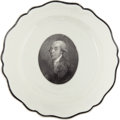 Political:3D & Other Display (pre-1896), James Madison: Rare Liverpool Portrait Plate....