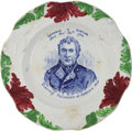 Political:3D & Other Display (pre-1896), Zachary Taylor: Post-Election China Plate....