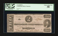 Confederate Notes:1862 Issues, T54 $2 1862 PF-13 Cr. UNL.. ...