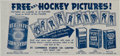 Hockey Cards:Lots, Scarce 1953 Bee Hive Hockey Photos Ad/Checklist. ...