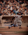 Baseball Collectibles:Photos, Willie Mays Signed Photograph....