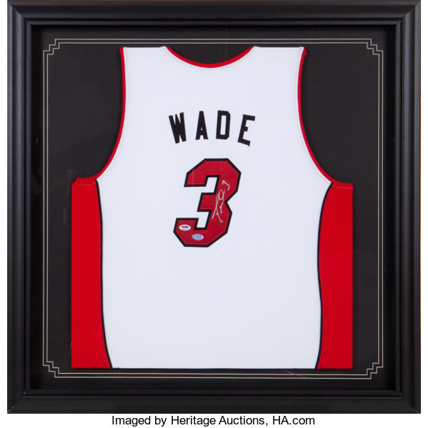 separation shoes f6b63 684e5 Dwyane Wade Signed Jersey.... Basketball Collectibles ...