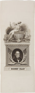 Political:Ribbons & Badges, Henry Clay: Silk Portrait Ribbon....