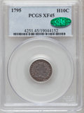 Early Half Dimes: , 1795 H10C XF45 PCGS. CAC. PCGS Population (33/253). NGC Census:(15/244). Mintage: 78,600. Numismedia Wsl. Price for proble...