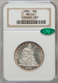 Seated Half Dollars, 1880 50C MS64 NGC. CAC....