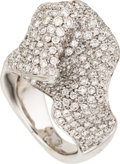 Estate Jewelry:Rings, Diamond, White Gold Ring. ...