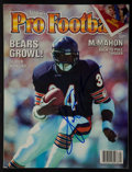 Football Collectibles:Publications, Walter Payton Signed Magazine....