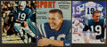 Football Collectibles:Photos, Johnny Unitas Signed Photographs Lot of 3....