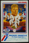 Baseball Collectibles:Others, Mickey Mantle Signed Ceramic Oversized Card....