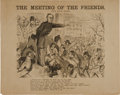 Political:Small Paper (pre-1896), Horatio Seymour: Draft Riots Cartoon from 1868....