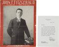 Political:Small Paper (1896-present), John F. Kennedy: Honey Fitz Sheet Music Owned by JFK....
