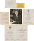 Political:Small Paper (1896-present), John F. Kennedy: Inauguration Ephemera.... (Total: 14 Items)