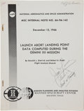Transportation:Space Exploration, Gemini 12 Training-Used Launch Abort Landing Point Data NASABook Directly from the Personal Collection of Command...
