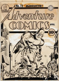 Original Comic Art:Covers, Jack Kirby and Joe Simon Adventure Comics #73 Manhunter Cover Original Art (DC, 1942)....