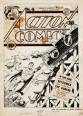 Original Comic Art:Covers, Fred Ray Action Comics #46 Superman Cover Original Art (DC,1942)....