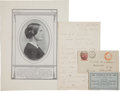 Autographs:Celebrities, [Susan B. Anthony] Group of Items relating to the Famous Suffragist...