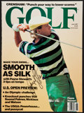 Golf Collectibles:Autographs, Payne Stewart Signed Magazine Cover....