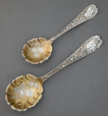 Silver Flatware, American:Knowles , A CASED KNOWLES SILVER AND SILVER GILT SERVING SET . J.B. &S.M. Knowles, Providence, Rhode Island, circa 1882. Marks: (K-li...(Total: 3 Items)