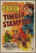"Movie Posters:Western, Timber Stampede (RKO, R-1948). One Sheet (27"" X 41""). Western.. ..."