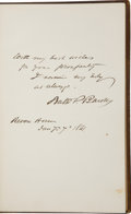 Autographs:Authors, Civil War Era Autograph Album...