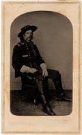 Photography:Tintypes, George Armstrong Custer: Rare Tintype Version of a BradyPhotograph....